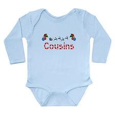 Cousins, Christmas Long Sleeve Infant Bodysuit