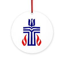Presbyterian Symbol Ornament (Round)