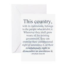 """Revolutionary Right"" Greeting Cards (Pk of 10"