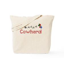 Cowherd, Christmas Tote Bag