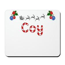 Coy, Christmas Mousepad