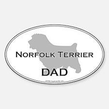 Norfolk Terrier DAD Oval Decal