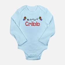 Cribb, Christmas Long Sleeve Infant Bodysuit