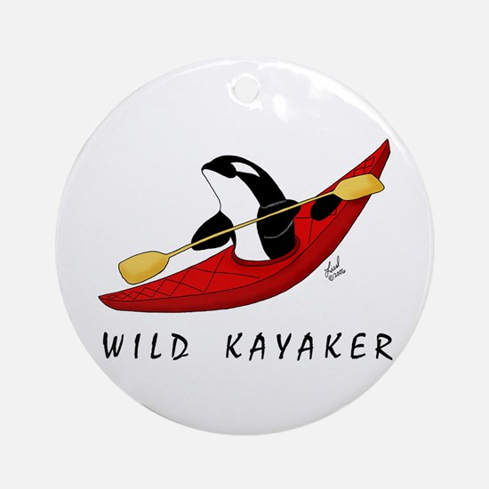 Wild Kayaker Ornament (Round)