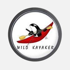 Wild Kayaker Wall Clock