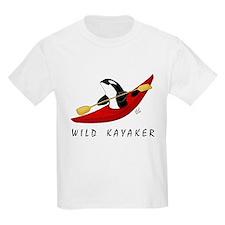 Wild Kayaker Kids T-Shirt