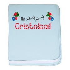 Cristobal, Christmas baby blanket