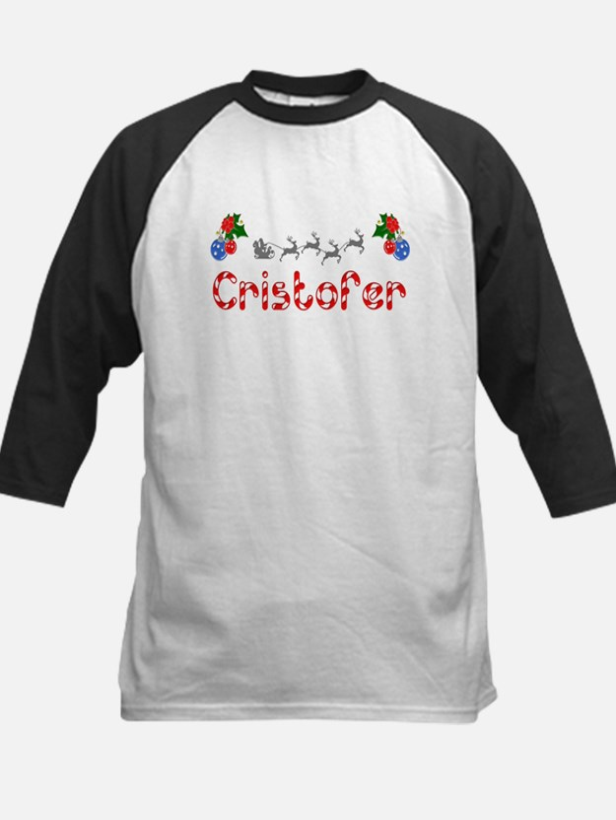 Cristofer, Christmas Kids Baseball Jersey