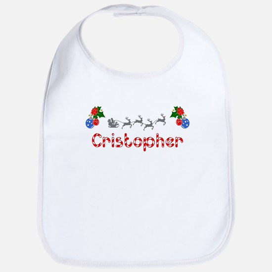 Cristopher, Christmas Bib