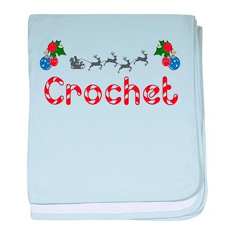 Crochet, Christmas baby blanket