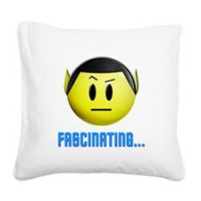 spock_smiley2.png Square Canvas Pillow