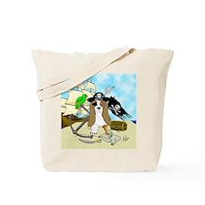 Pirate Basset Tote Bag
