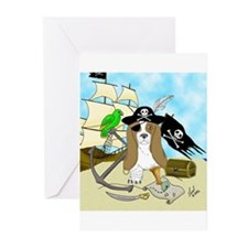 Pirate Basset Greeting Cards (Pk of 10)