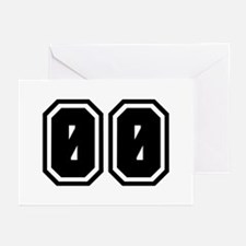 SPORTS JERSEY 00 Greeting Cards (Pk of 10)