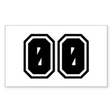 SPORTS JERSEY 00 Rectangle Decal