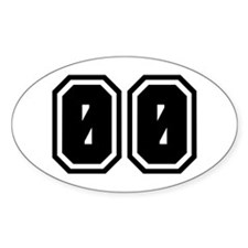 SPORTS JERSEY 00 Oval Decal