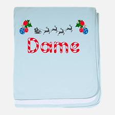 Dame, Christmas baby blanket