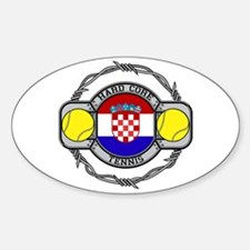 Croatia Tennis Oval Decal