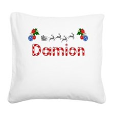 Damion, Christmas Square Canvas Pillow