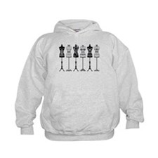 Vintage fashion mannequins silhouettes Hoodie