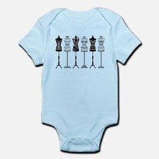 Vintage fashion mannequins silhouettes Infant Body