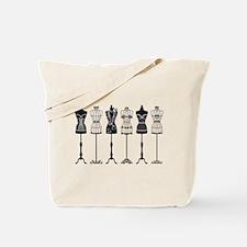 Vintage fashion mannequins silhouettes Tote Bag