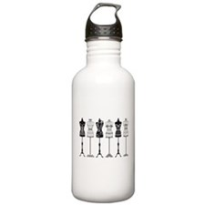 Vintage fashion mannequins silhouettes Water Bottle