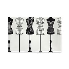 Vintage fashion mannequins silhouettes Rectangle M