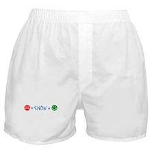 Plus Snow Equals Happy Boxer Shorts