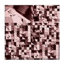 """Ceramic Coaster """"Puzzled"""""""