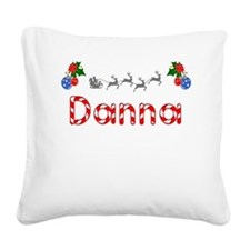 Danna, Christmas Square Canvas Pillow