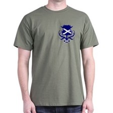 Scottish Navy Blue Thistle T-Shirt