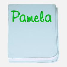 Pamela Glitter Gel baby blanket