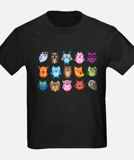 Colorful cute owls T