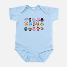 Colorful cute owls Infant Bodysuit