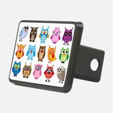 Colorful cute owls Hitch Cover