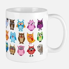 Colorful cute owls Mug