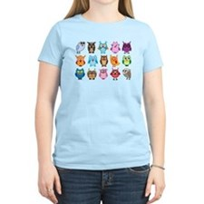 Colorful cute owls T-Shirt