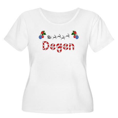 Degen, Christmas Women's Plus Size Scoop Neck T-Sh
