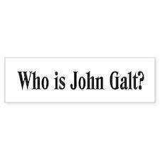 Who is John Galt? Bumper Bumper Sticker