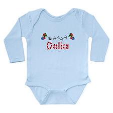 Delia, Christmas Long Sleeve Infant Bodysuit