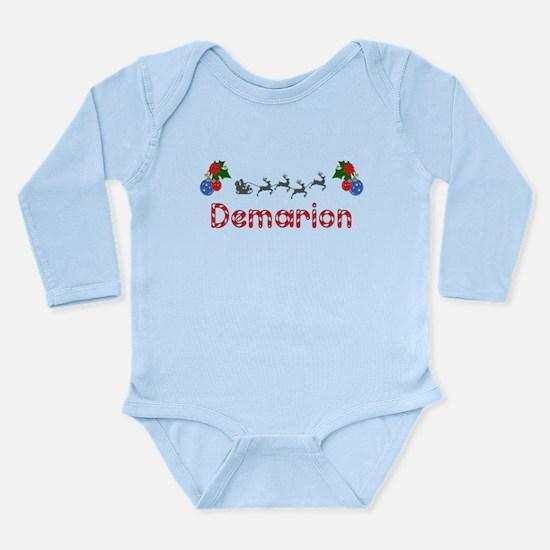 Demarion, Christmas Long Sleeve Infant Bodysuit