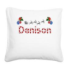 Denison, Christmas Square Canvas Pillow