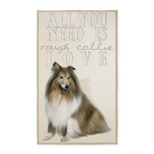 Rough Collie 3'x5' Area Rug