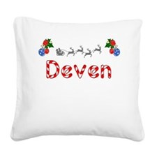 Deven, Christmas Square Canvas Pillow