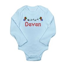 Deven, Christmas Long Sleeve Infant Bodysuit