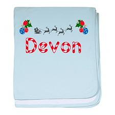 Devon, Christmas baby blanket
