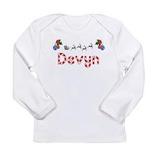 Devyn, Christmas Long Sleeve Infant T-Shirt