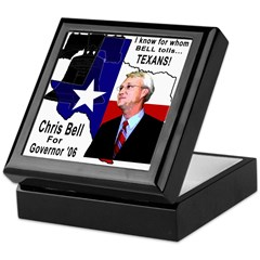 Chris Bell, TX GOV Keepsake Box
