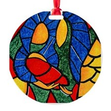Colorful Abstract Nativity Christmas Tree Ornament
